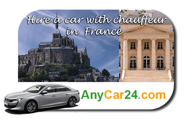 Hire a car with chauffeur in France