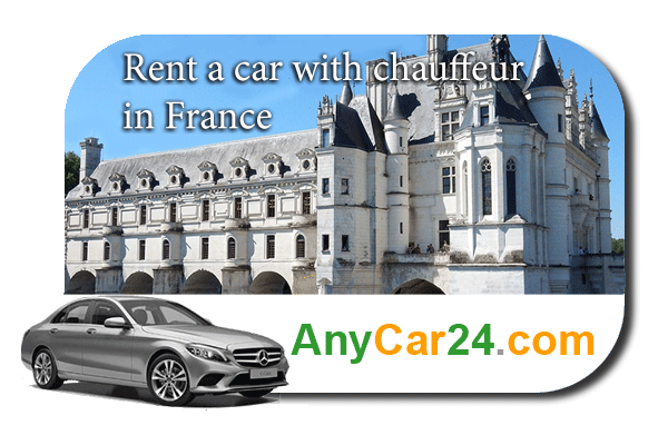 Rent a car with chauffeur in France